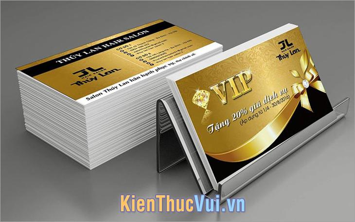 Kích thước Card Visit khi thiết kế với Photoshop