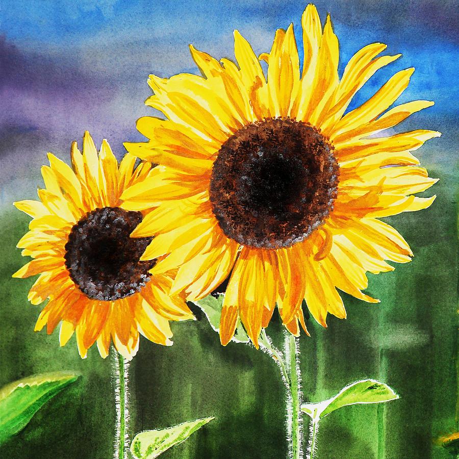 Ảnh bức tranh vẽ hoa Hướng Dương