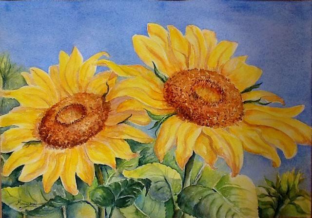 Ảnh tranh vẽ hoa Hướng Dương
