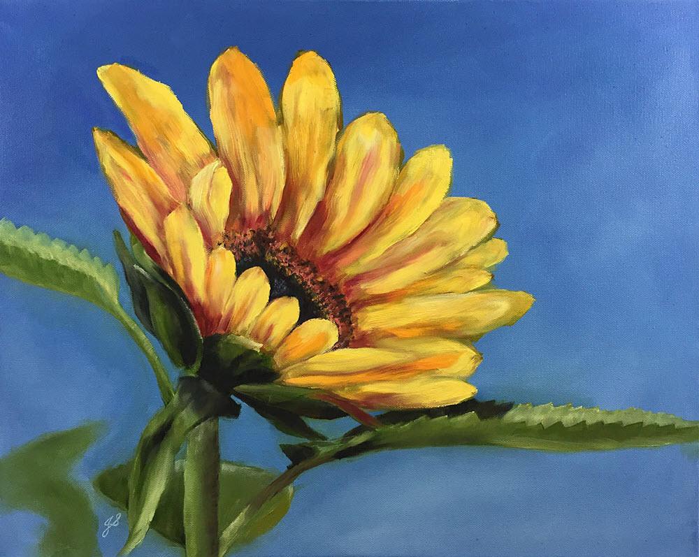 Bông hoa Hướng Dương tự vẽ đẹp