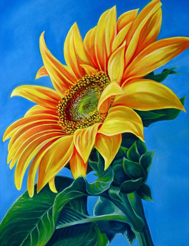 Bức tranh vẽ hoa Hướng Dương đẹp nhất