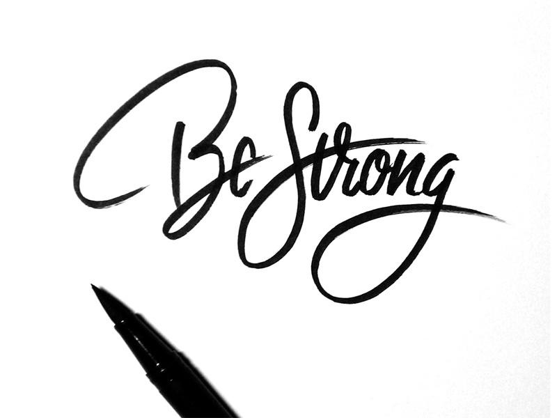 Hình ảnh cổ vũ Be Strong