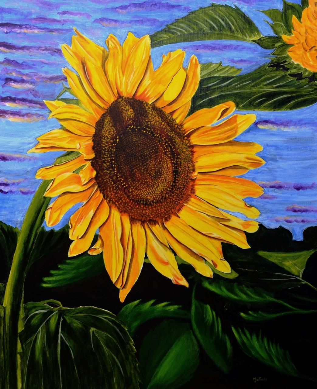 Hình ảnh tranh vẽ hoa Hướng Dương đẹp nhất