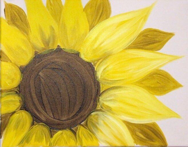 Hình ảnh tranh vẽ hoa Hướng Dương đơn giản