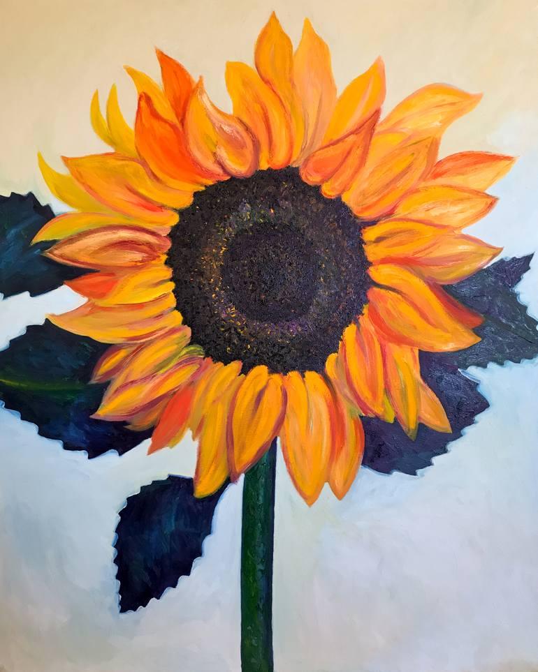 Hình ảnh tranh vẽ hoa Hướng Dương
