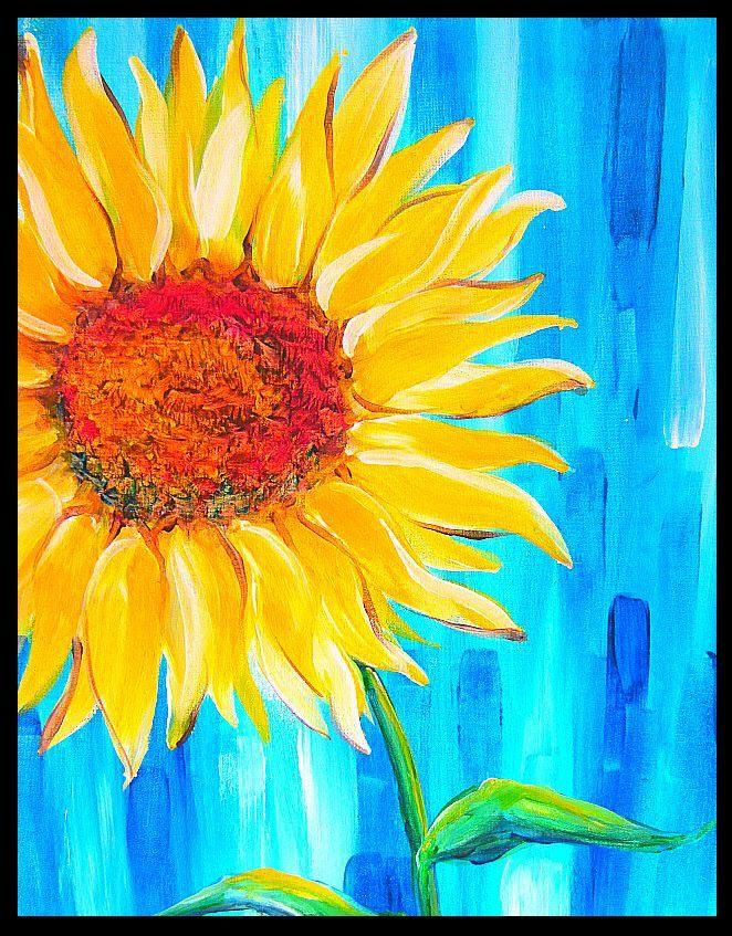 Hình tranh vẽ hoa Hướng Dương đẹp nhất (2)