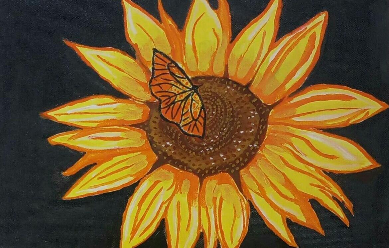 Hình tranh vẽ hoa Hướng Dương đẹp nhất