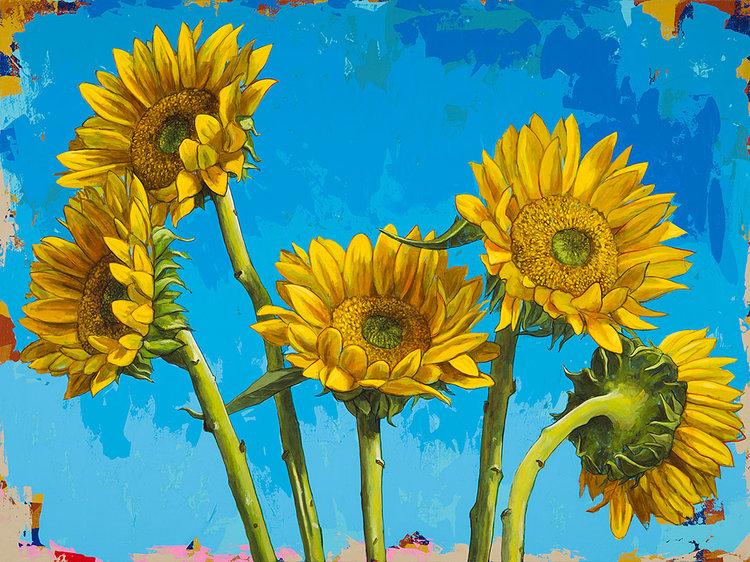 Những bông hoa Hướng Dương tự vẽ đẹp