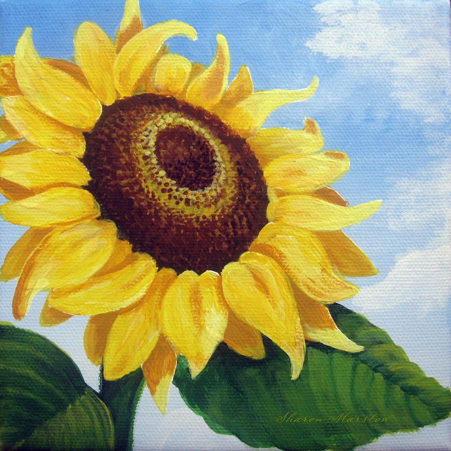 Những bức tranh vẽ hoa Hướng Dương đẹp nhất