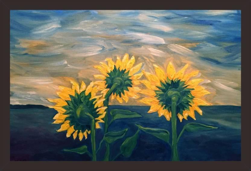 Những bức tranh vẽ hoa Hướng Dương đẹp