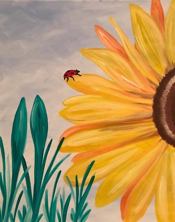 Tranh vẽ hoa Hướng Dương đơn giản