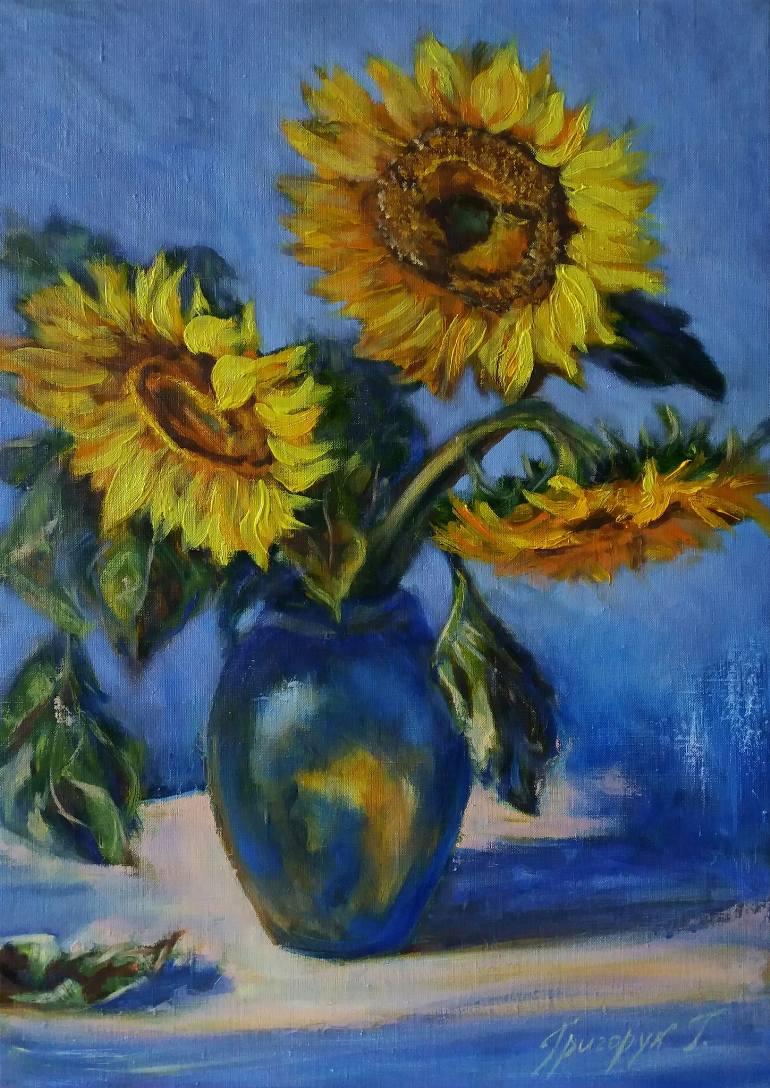 Tranh vẽ hoa Hướng Dương