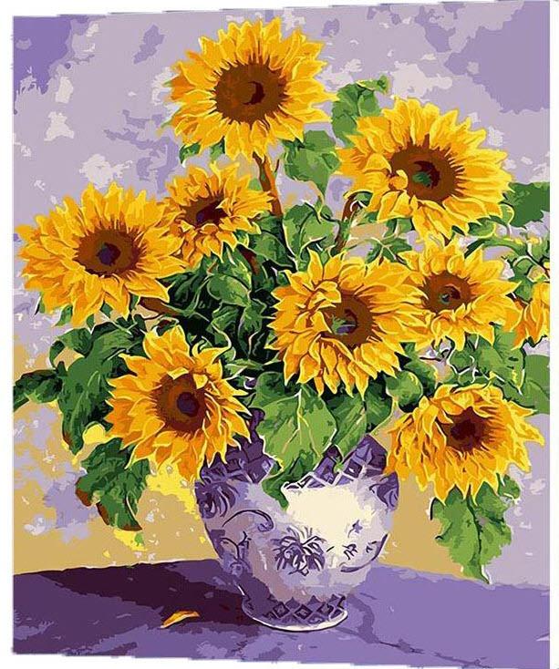 Vẽ tranh hoa Hướng Dương