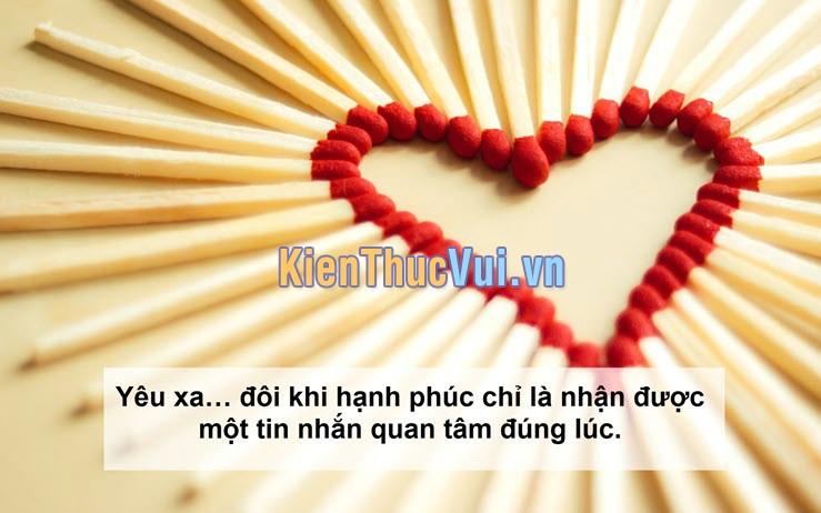 Yêu xa đôi khi hạnh phúc chỉ là nhận được một tin nhắn quan tâm đúng lúc