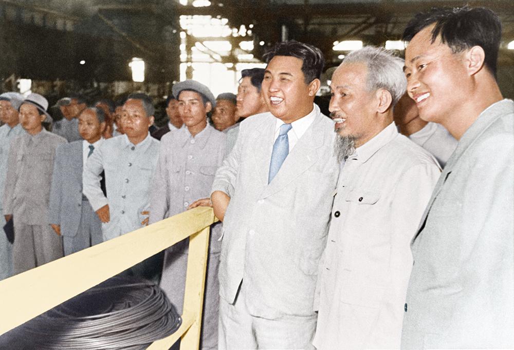 Bác Hồ giao lưu với Triều Tiên