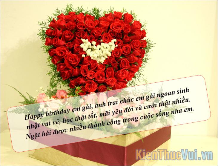 Happy birthday em gái, anh trai chúc mừng sinh nhật em gái ngoan sinh nhật vui vẻ