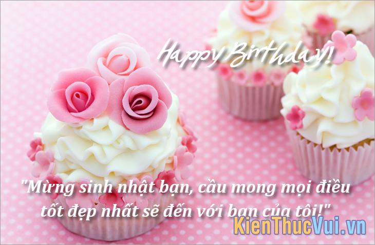 Mừng sinh nhật bạn mong mọi điều tốt đẹp nhất sẽ đến với bạn của tôi