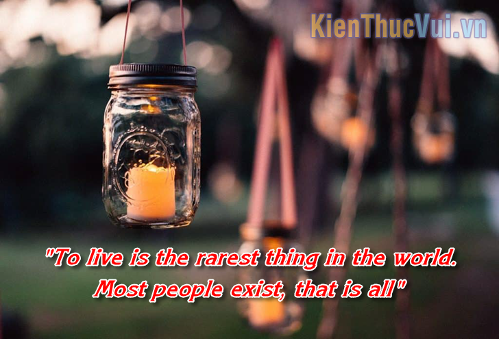 To live is the rarest thing in the world