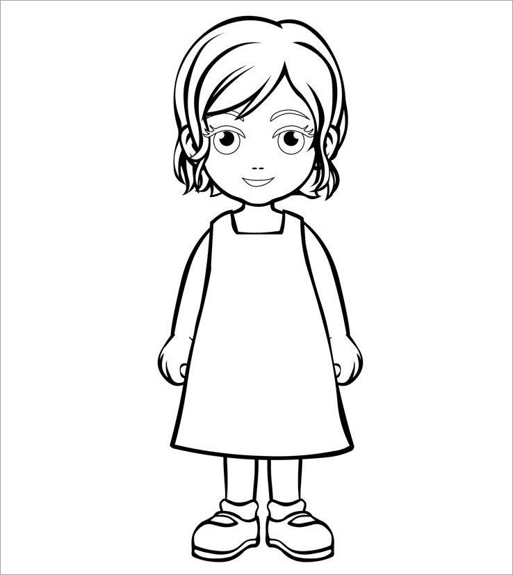 Hình công chúa chibi tô màu