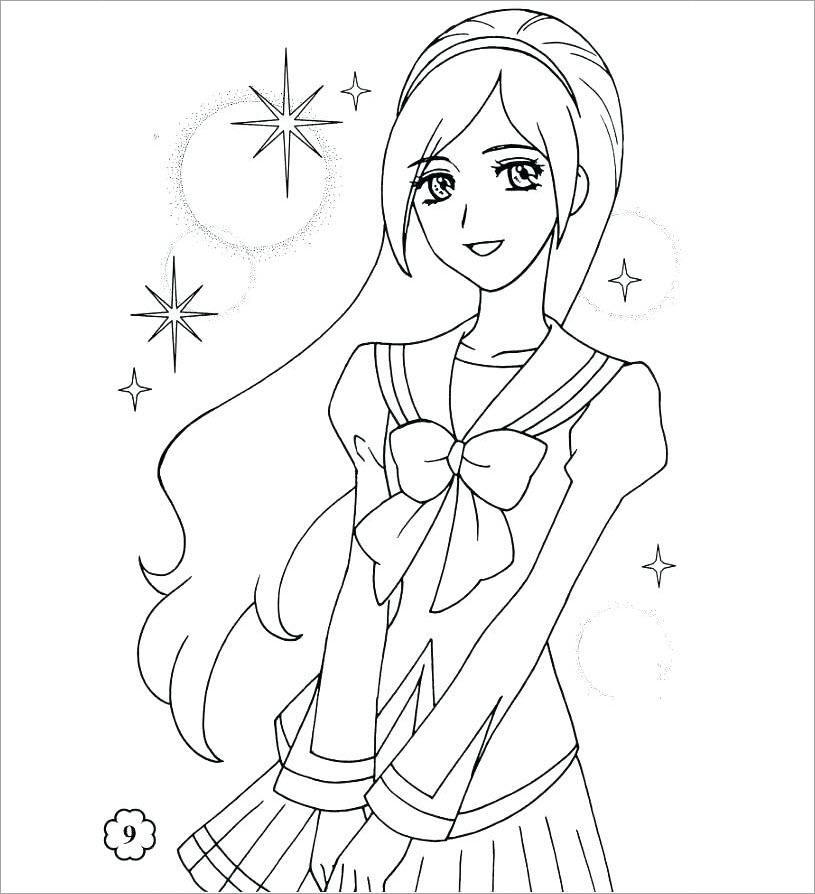 Hình tập tô màu công chúa chibi dễ thương