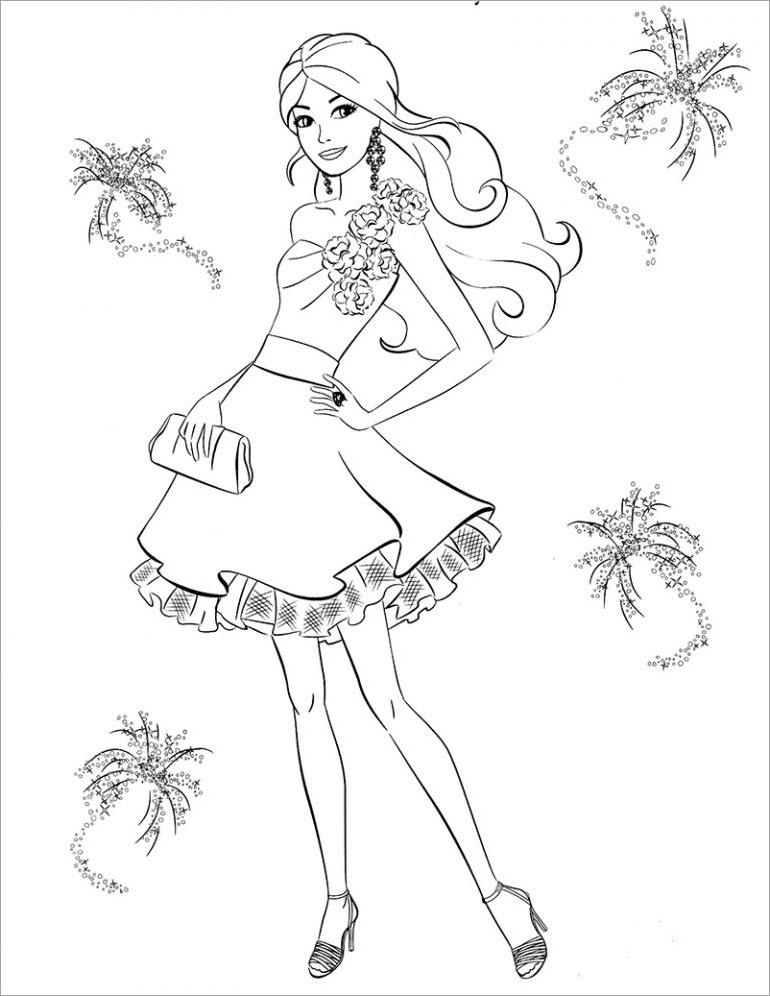 Hình tập tô màu công chúa chibi đẹp