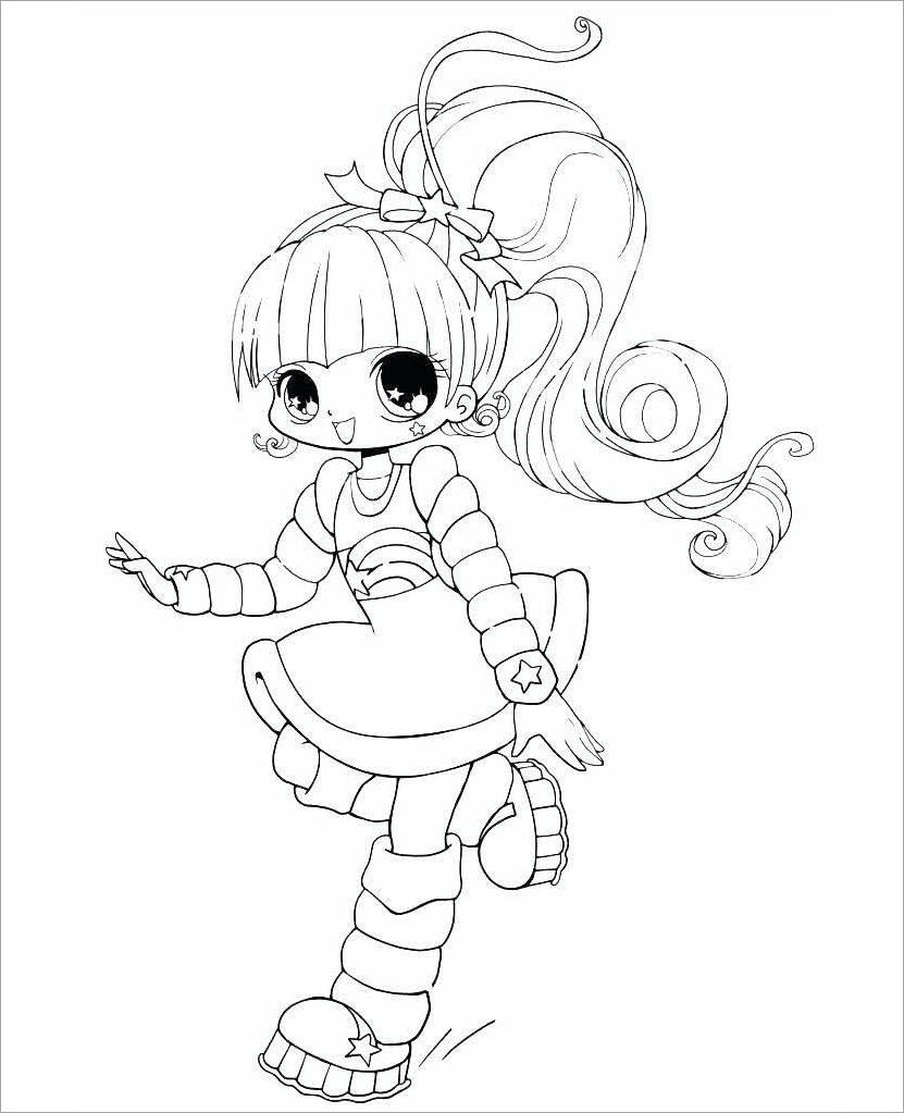 Hình tô màu anime chibi dễ thương