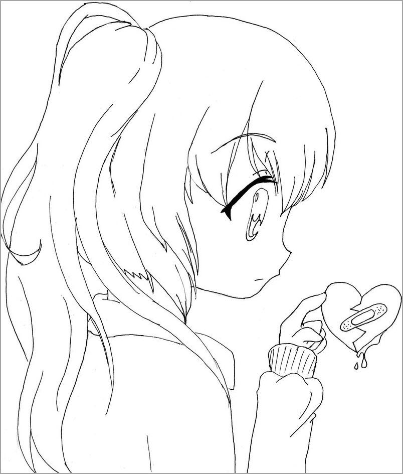 Hình tô màu anime chibi đẹp