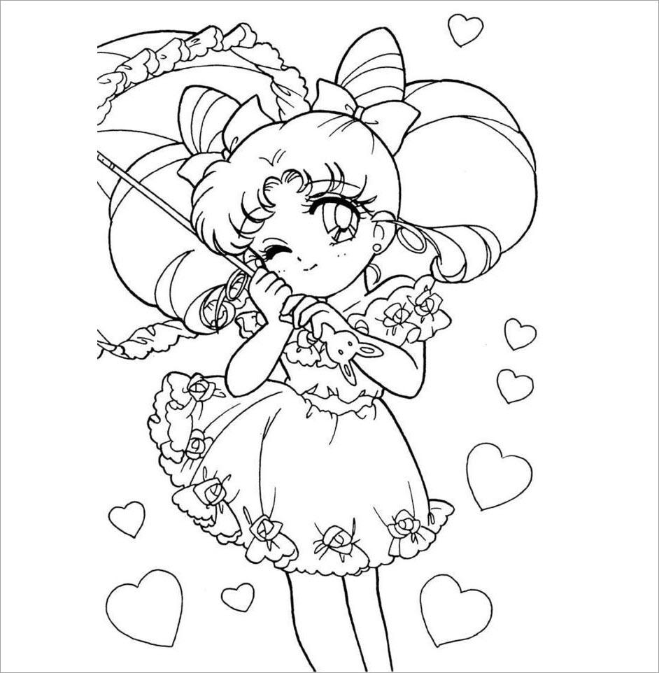 Hình tô màu công chúa chibi đẹp