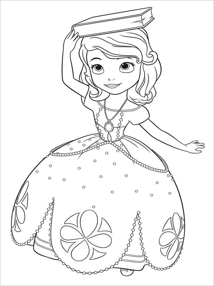 Hình tô màu công chúa