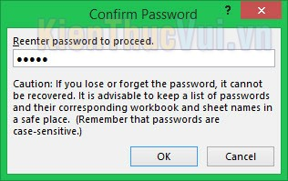Nhập lại mật khẩu trùng khớp với mật khẩu vừa tạo