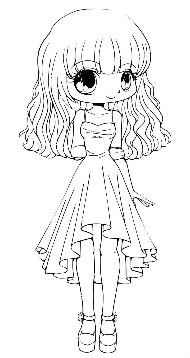 Tô màu công chúa chibi cực đẹp