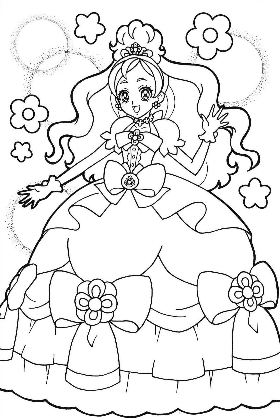 Tranh tập tô màu công chúa chibi