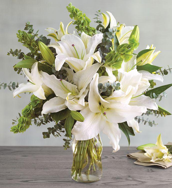 Hình ảnh lọ hoa ly trắng đẹp