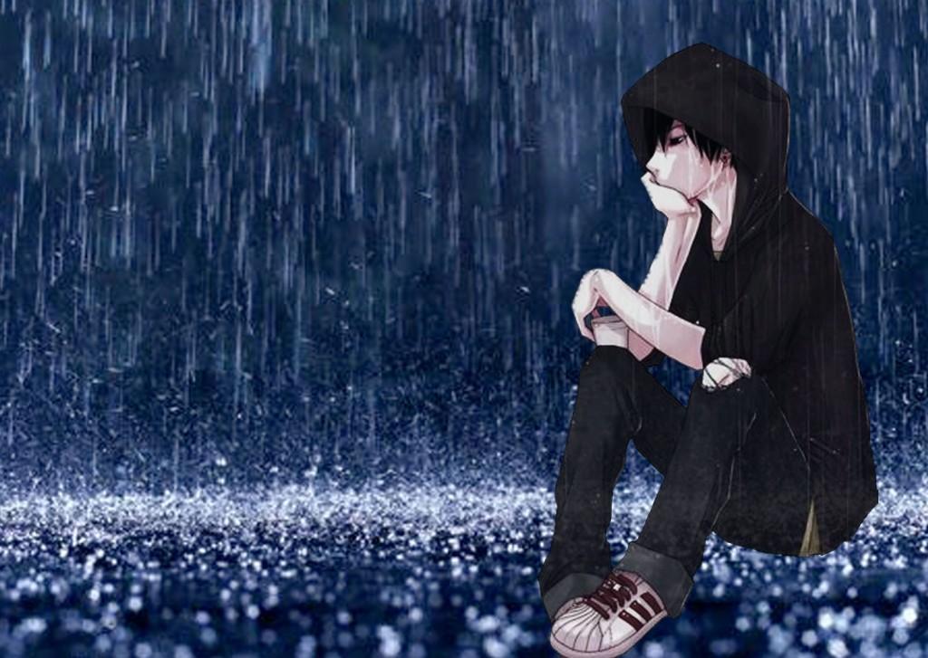 Ảnh cô đơn mưa buồn