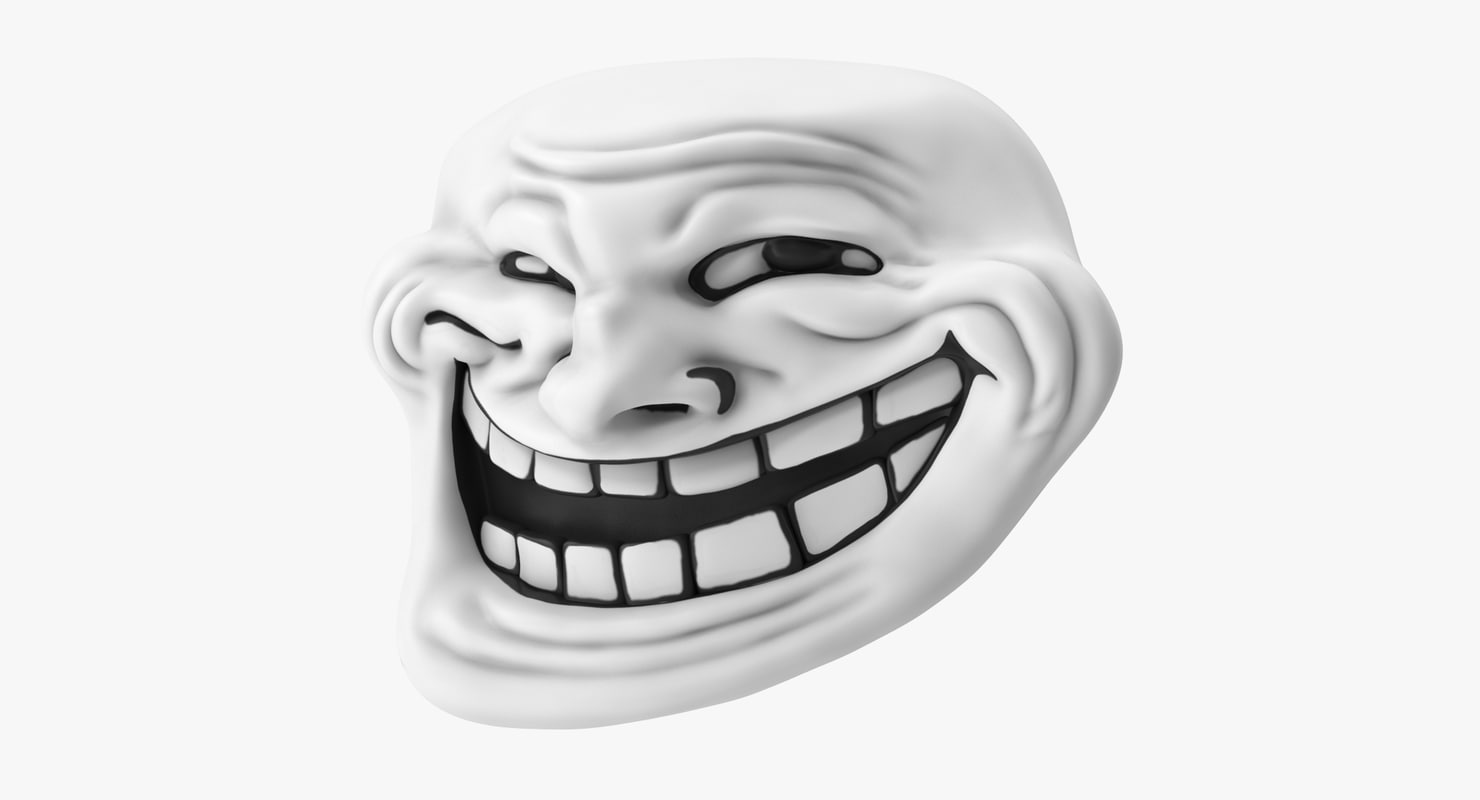 Ảnh mặt troll 3D