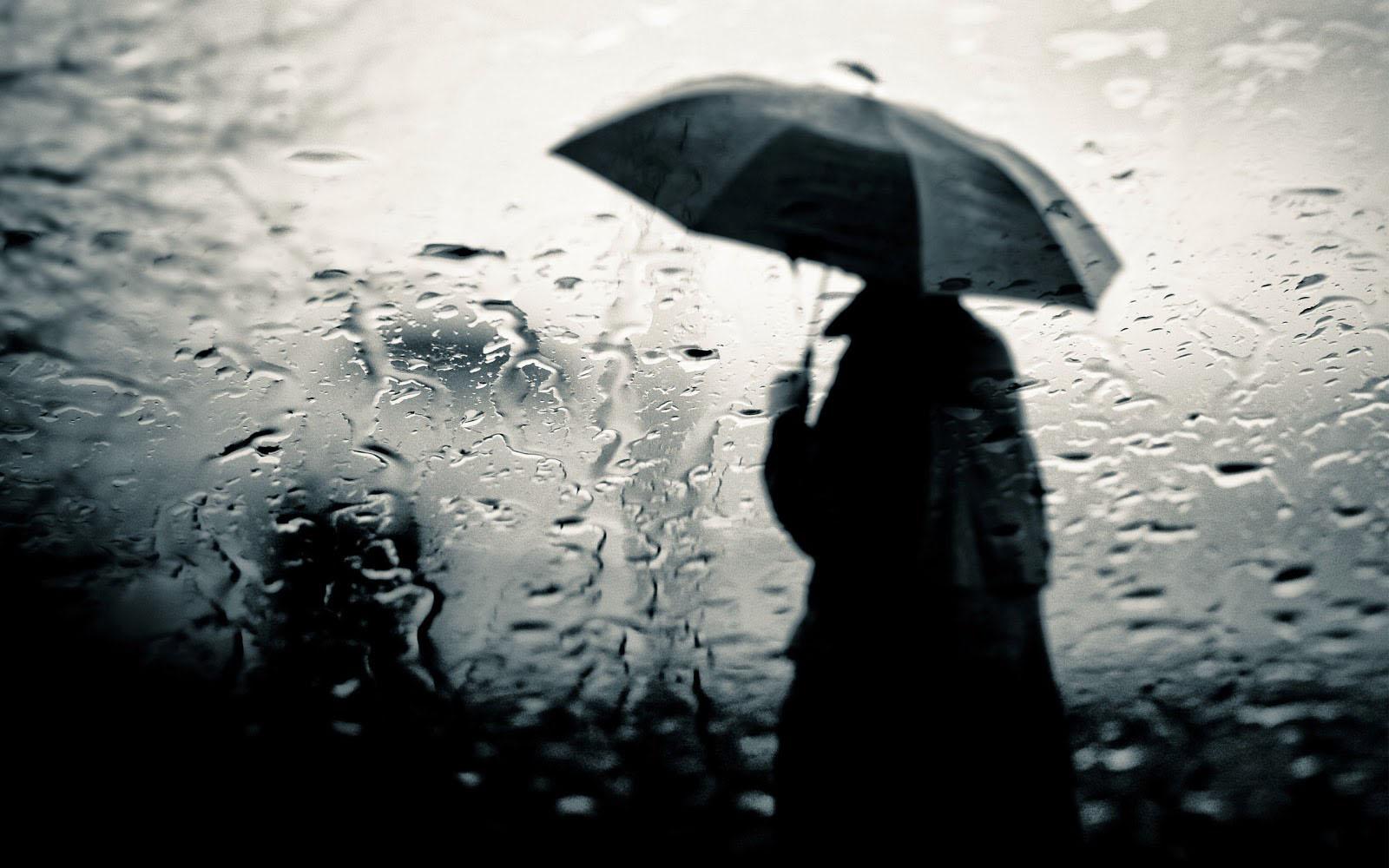 Hình ảnh mưa buồn lạnh lẽo