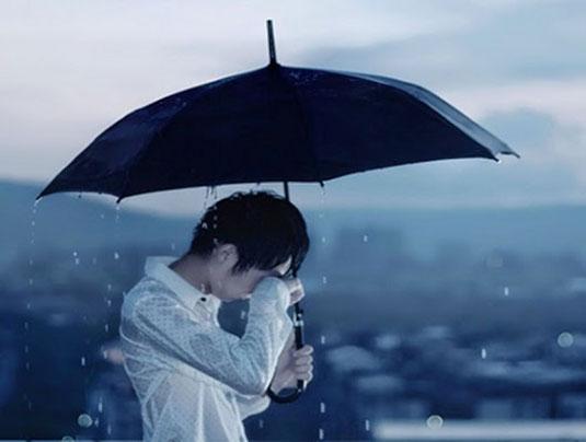 Hình ảnh mưa buồn và khóc