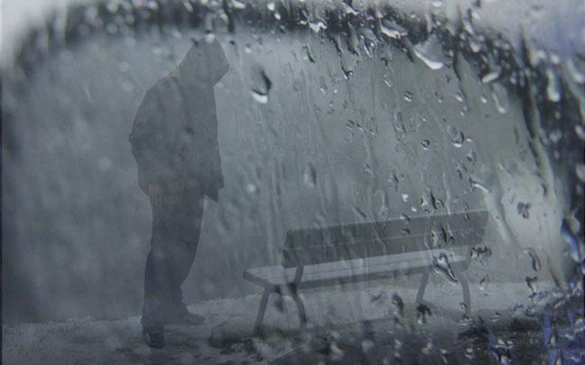 Hình ảnh mưa cô đơn và buồn
