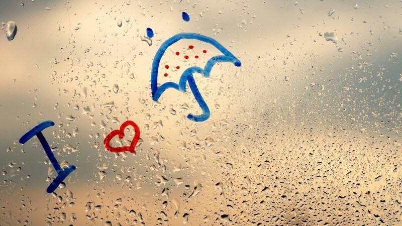 Hình ảnh mưa đẹp và buồn