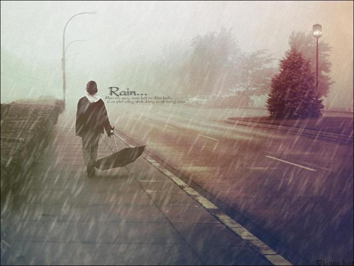 Hình ảnh mưa lãng mạn