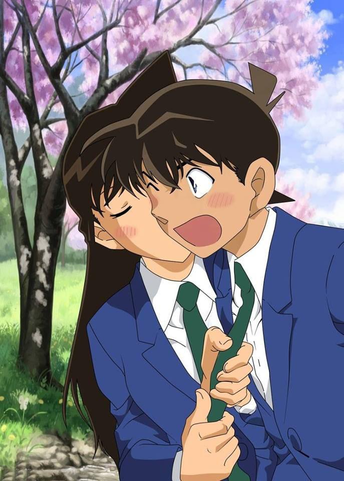 Hình ảnh Ran tình tứ với Shinichi