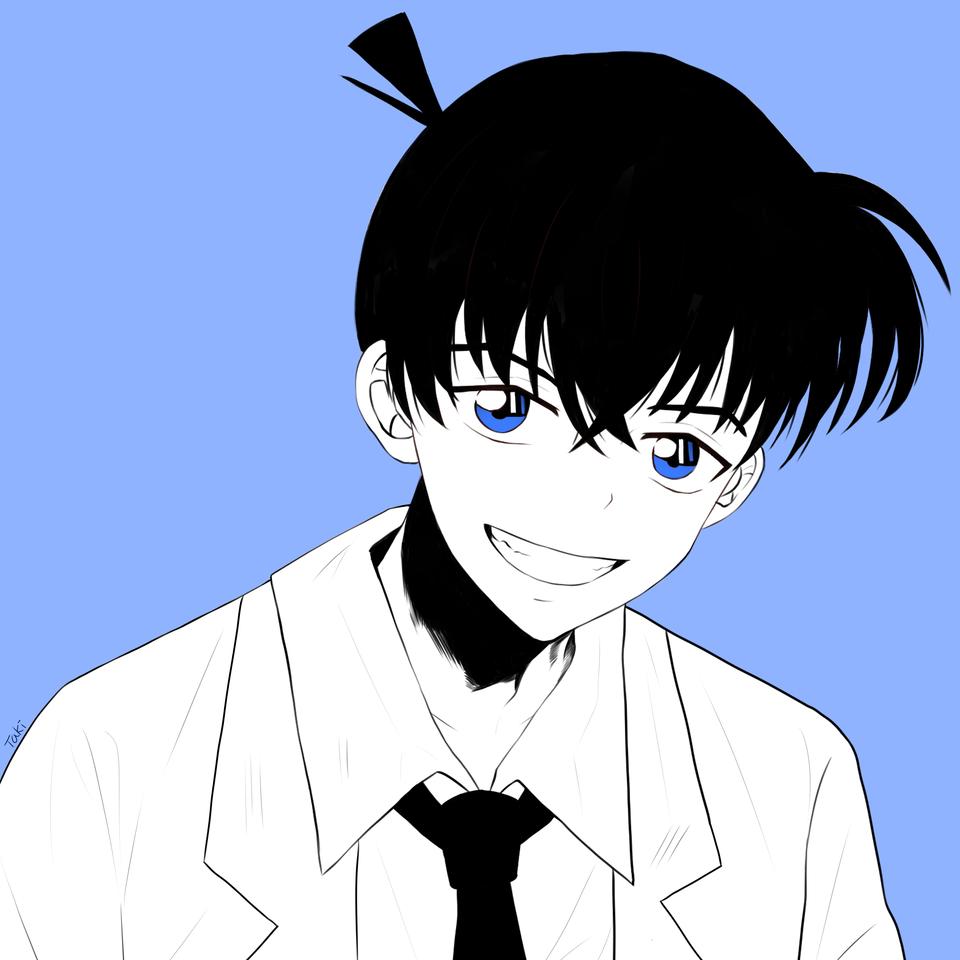Hình ảnh Shinichi đen trắng