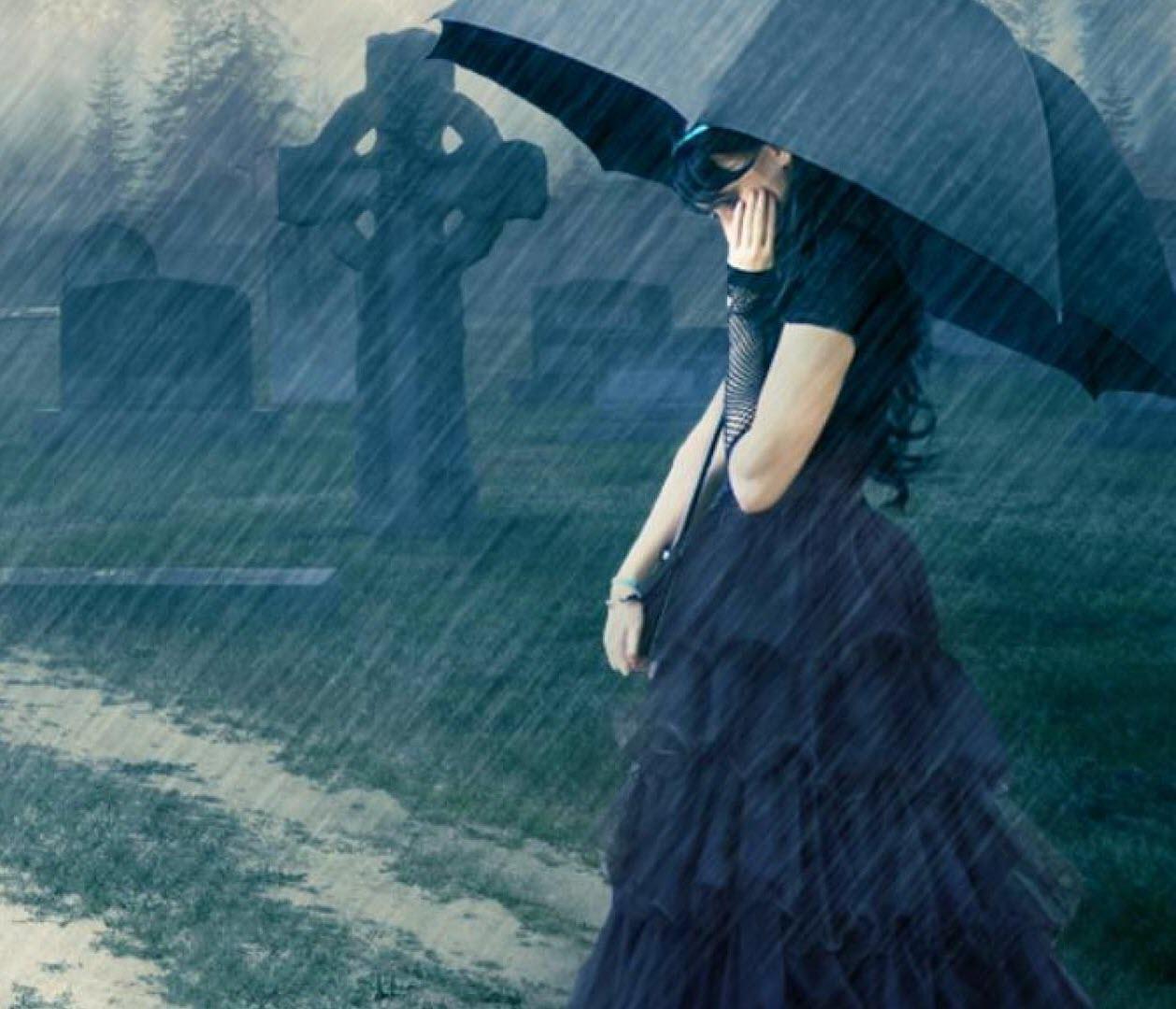 Hình ảnh trời mưa buồn cô đơn