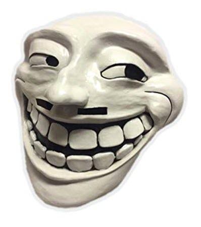 Hình mặt troll 3D hài hước
