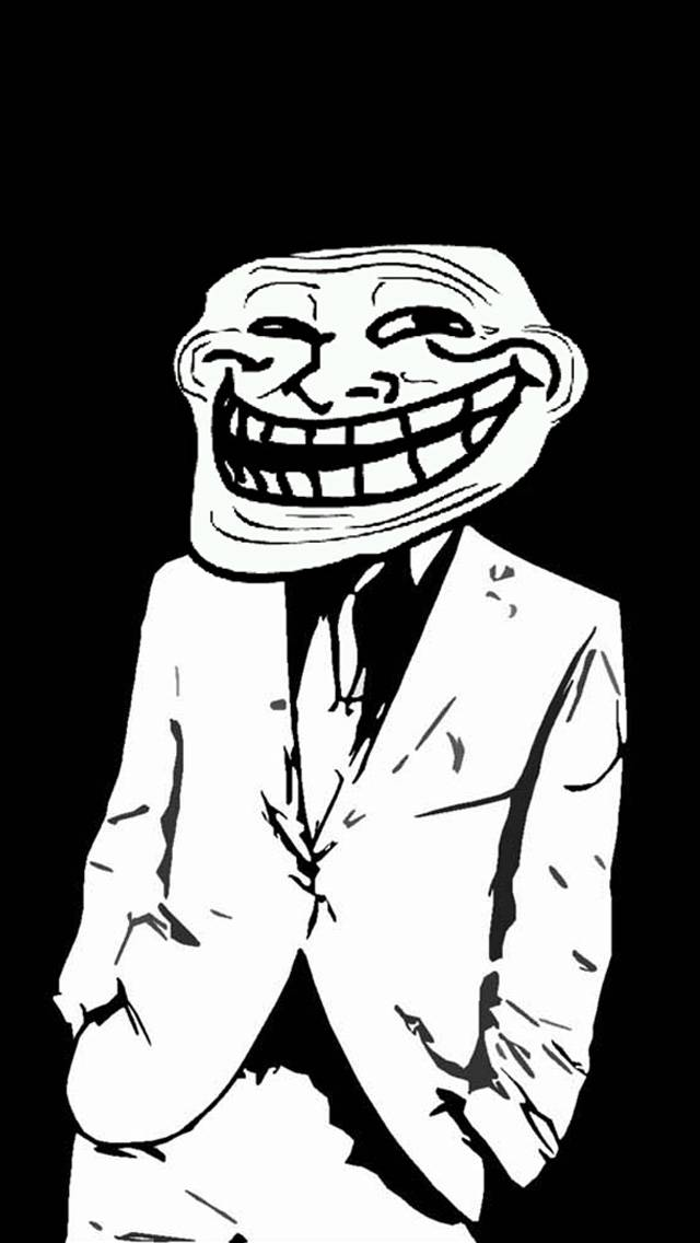 Hình mặt troll mặc vest