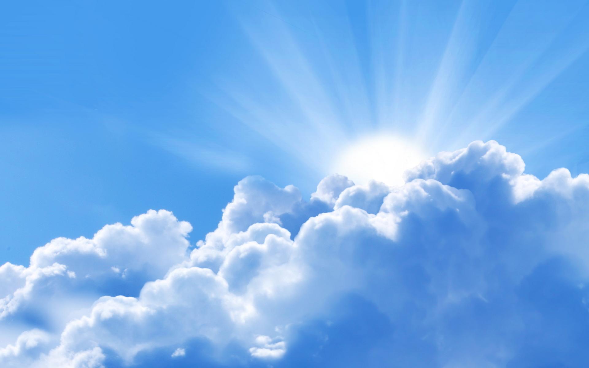 Ảnh bầu trời cực đẹp với thái dương ló rạng sau áng mây
