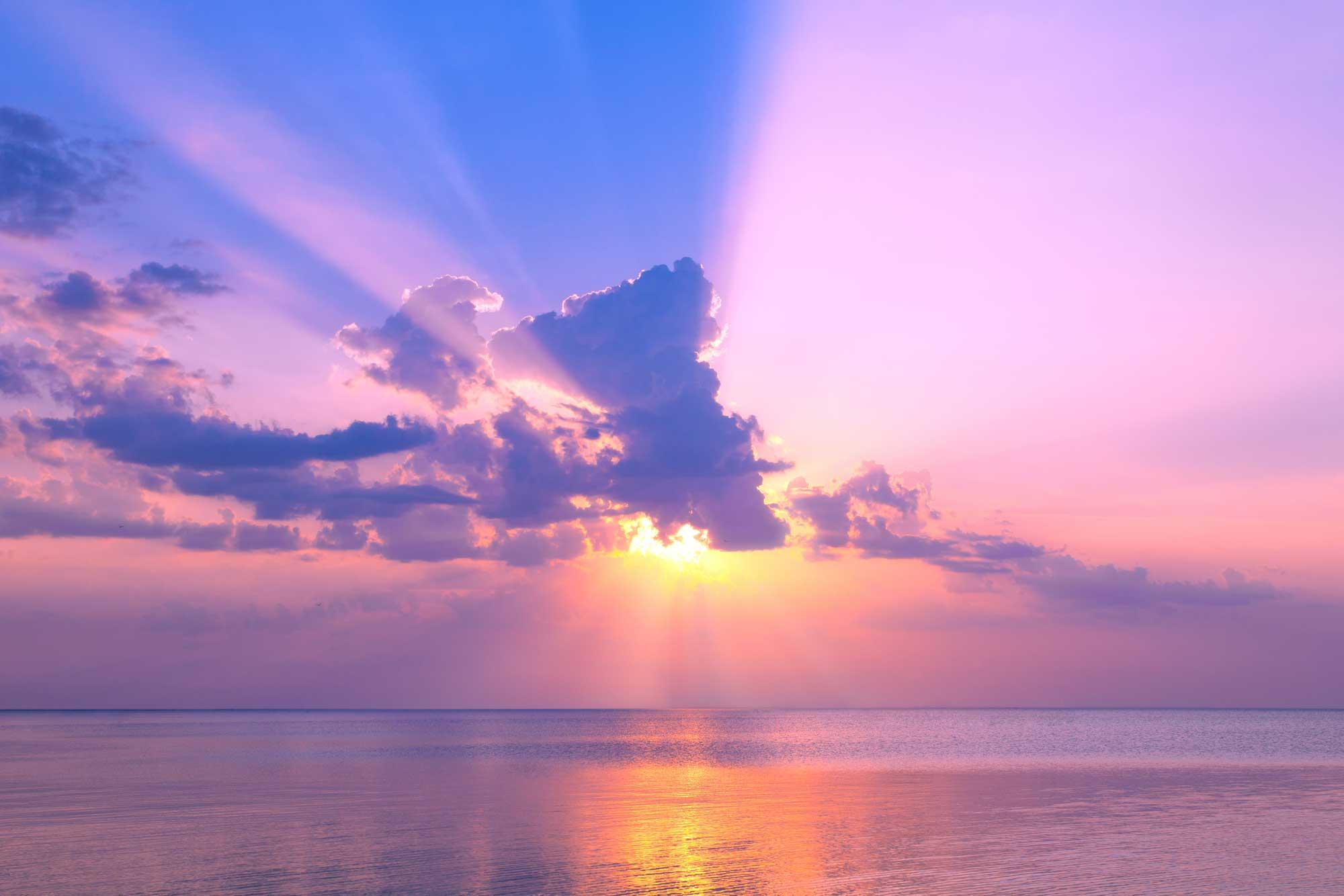 Ảnh bầu trời đẹp hoàng hôn huyền bí