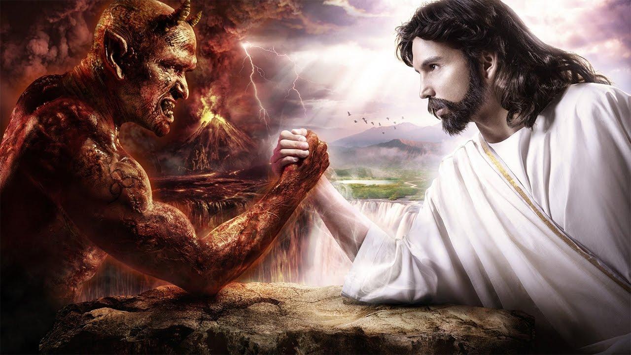 Hình ảnh chúa jesus và ác quỷ