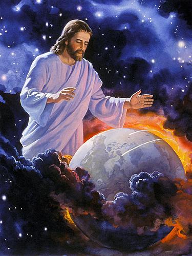 Hình ảnh chúa jesus với trái đất