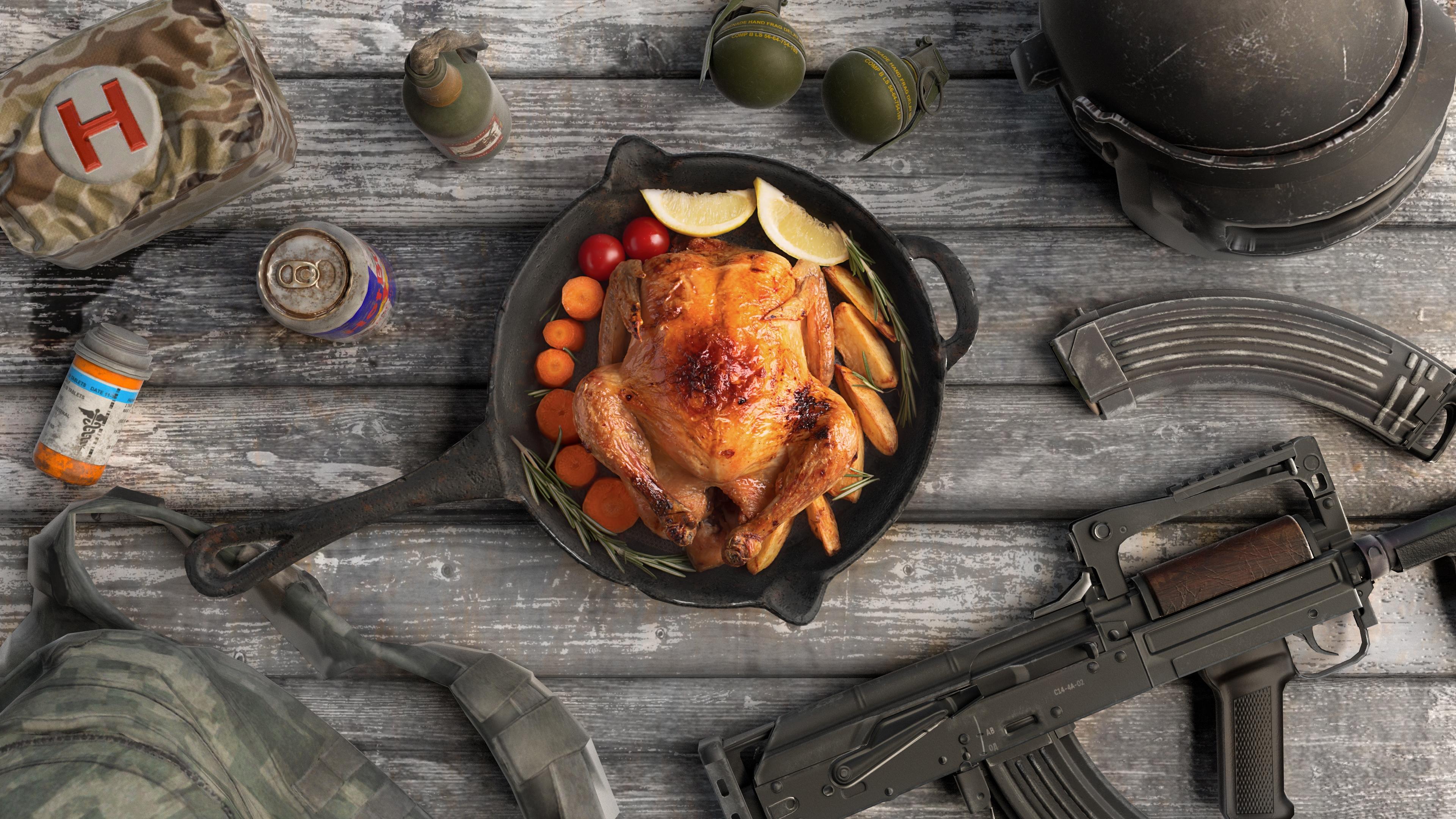 ảnh nền pubg chicken dinner 4k